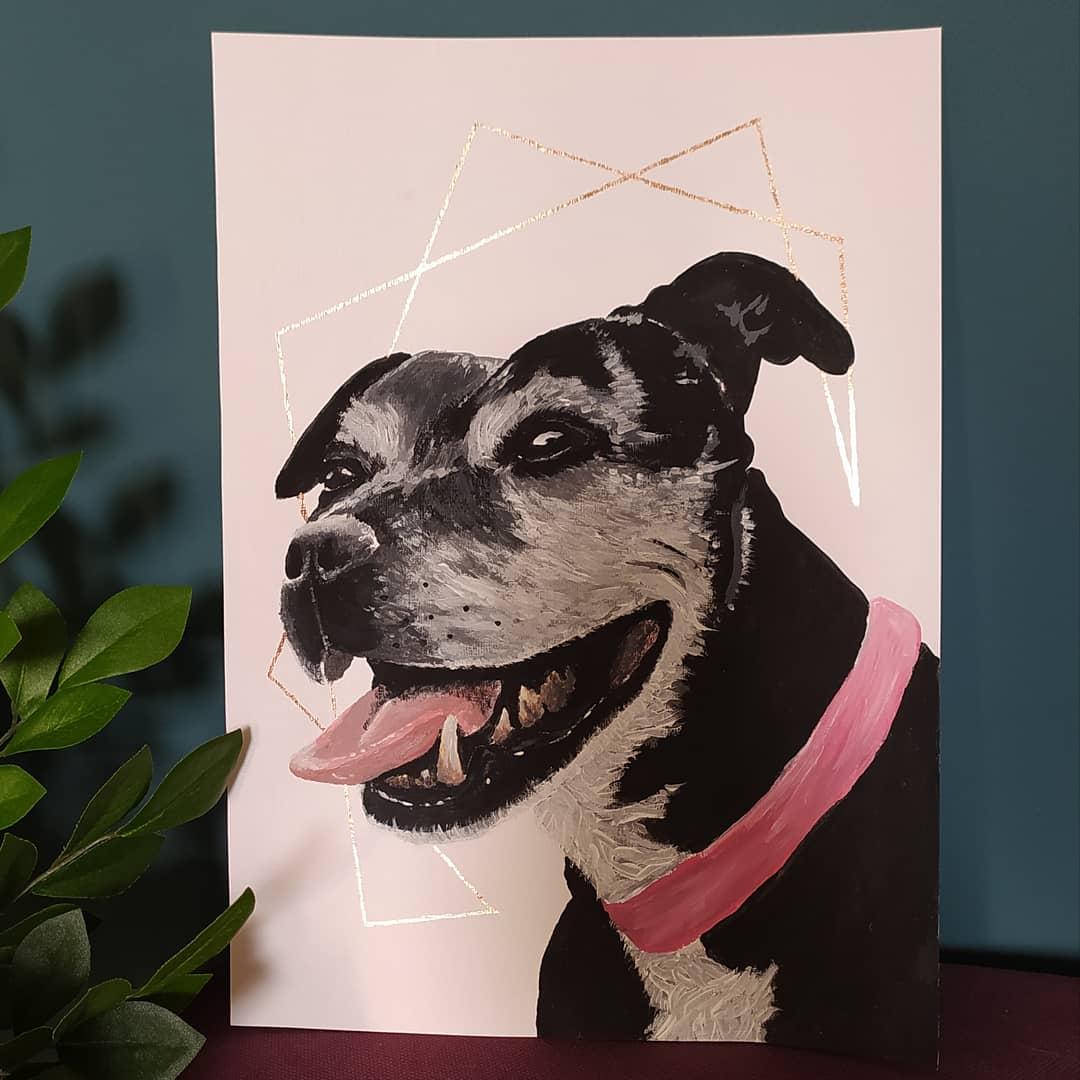 Hand-Painted Pet Portraits